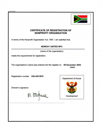 NewDay United NPO certificate-1